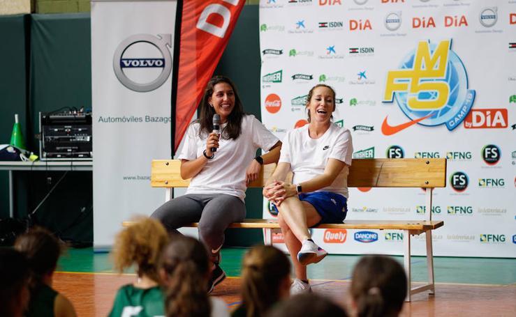 María Araújo visita el Campus Marta Fernández en Carbajosa