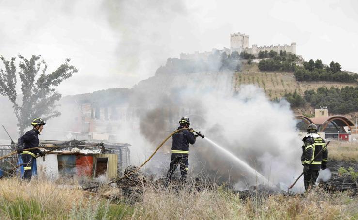 Incendio en Peñafiel