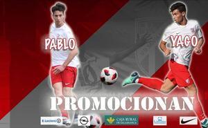 Pablo Fernández y Yago formarán parte de la primera plantilla de la UD Santa Marta