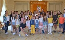 Recepción a las gimnastas del Rítmica Salamanca por sus éxitos en los campeonatos de España y de Castilla y León