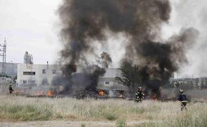 Los Bomberos intervienen para sofocar un incendio en Peñafiel