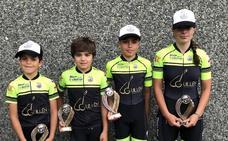 Cuatro podios para la Escuela Bejarana de Ciclismo en Ávila