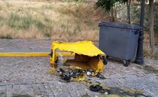 Queman 18 contenedores en la capital de Ávila en los últimos días