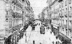 De escaparates por la calle Duque de la Victoria en el año 1929 en Valladolid: de Virto al Café Madrid