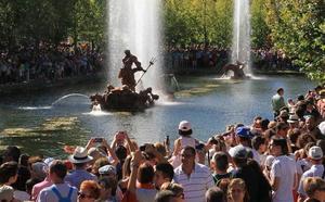Los juegos de las Fuentes de La Granja solo correrán los días de Santiago y San Luis por la sequía