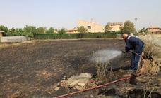 Pequeño incendio de rastrojos en Torrecaballeros