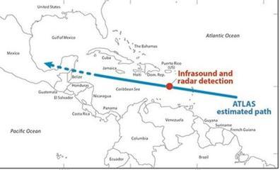 Detectan un asteroide del tamaño de un coche cuatro horas antes de estrellarse contra la Tierra