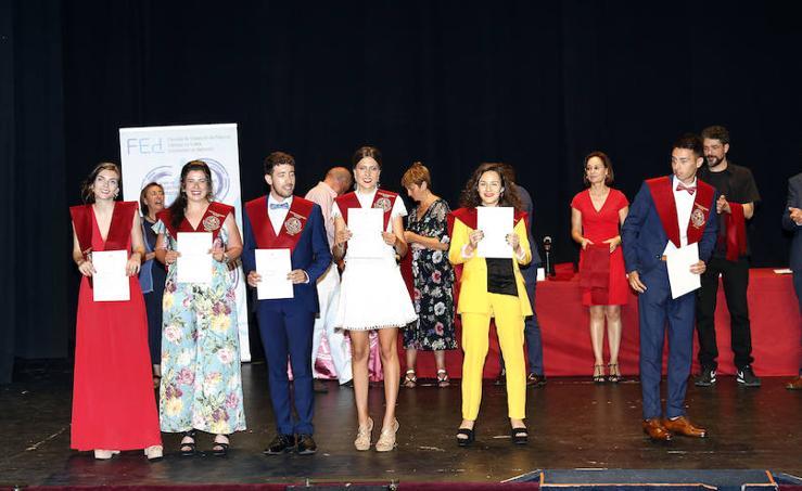 Graduación de los alumnos de educación de Palencia