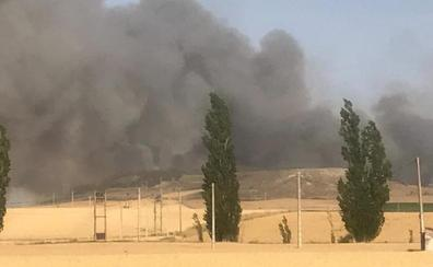 Un incendio arrasa 42 hectáreas de monte y cereal en las localidades vallisoletanas de Villalbarba y Mota