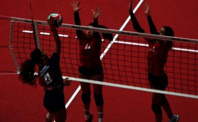 Las altas temperaturas se dejan sentir en el CESA de voleibol