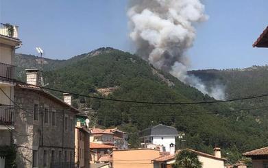 La Junta eleva a nivel 2 la situación en el valle del Tiétar de Ávila, por la confluencia de incendios