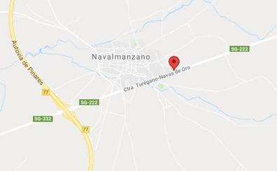 Herido al empotrarse con el coche contra una pared en la localidad segoviana de Navalmanzano