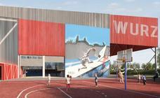 Adjudicadas por más de 900.000 euros las obras para convertir el frontón anexo a Würzburg en un nuevo pabellón deportivo