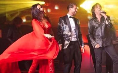 Pilar Rubio muestra como disfrutó del grupo Europe en su boda