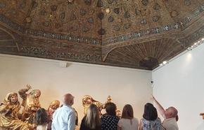 El Museo Nacional de Escultura abrirá por la noche para mostrar sus 24 artesonados