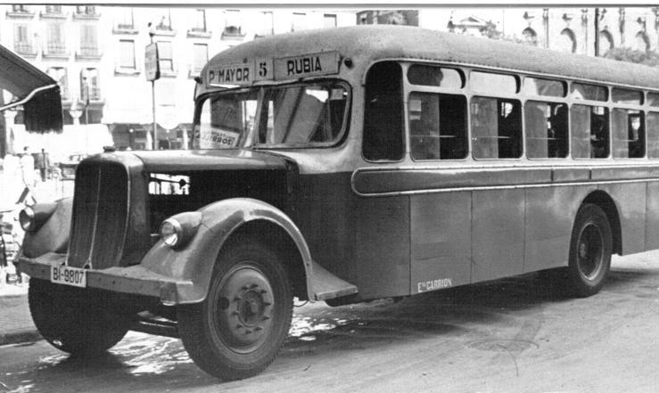 Los primeros autobuses urbanos de Valladolid