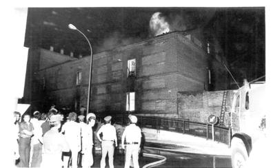 Pavoroso incendio en la Real Chancillería