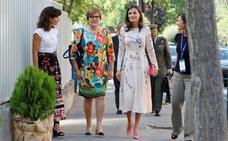 Letizia recupera su 'look' más oriental