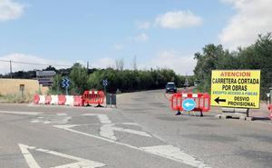 La Diputación habilita desvíos para que las obras de la carretera del Monte no afecten al tráfico