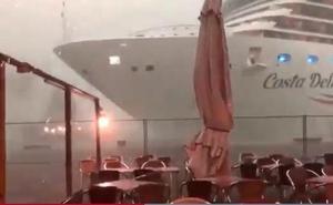 Un gigantesco trasatlántico da un nuevo susto en los canales de Venecia