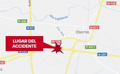 La salida de la vía de un turismo en la A-231 en Osorno causa cuatro heridos, entre ellos un niño de cuatro meses