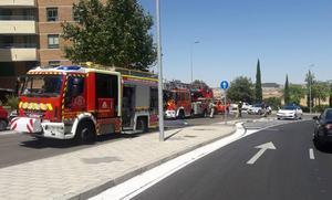 Incendio en una vivienda de la calle Manuel Azaña, en Valladolid