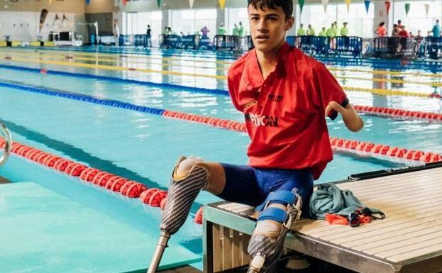 El joven paralímpico Luis Huerta.