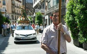 Los taxistas celebran su patrón en la Plaza Mayor de Valladolid