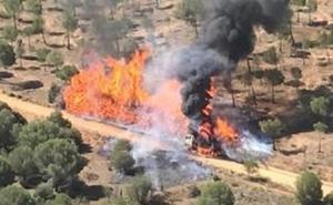 Arde una máquina en Toro cuando realizaba labores de desbroce