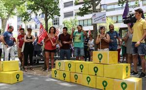 CC OO se manifiesta por los derechos de los 'riders' en Valladolid
