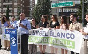 Valladolid recuerda a Miguel Ángel Blanco en el 22 aniversario de su asesinato