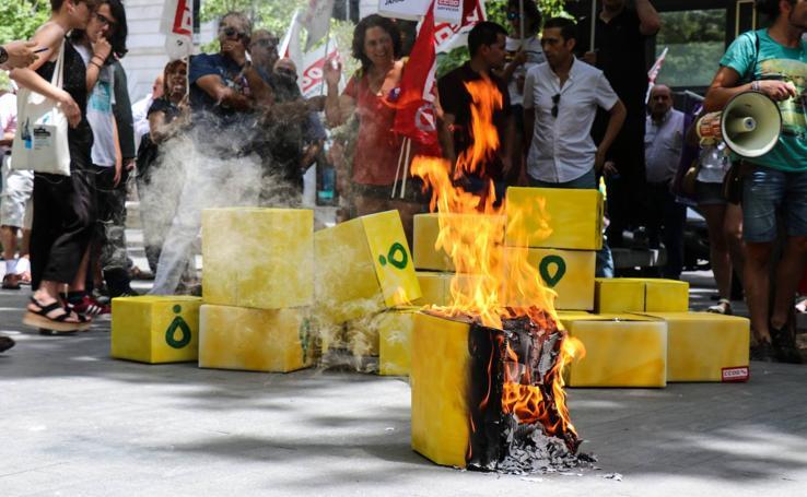 Protesta de 'riders' en Valladolid