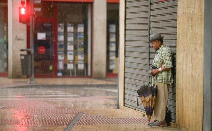 Fuertes lluvias este sábado en Valladolid