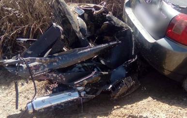 Herido un joven motorista en Mucientes (Valladolid) tras colisionar con un turismo