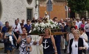 La fiesta se desplaza hasta el barrio del Carmen de Santa Marta en el día de su festividad