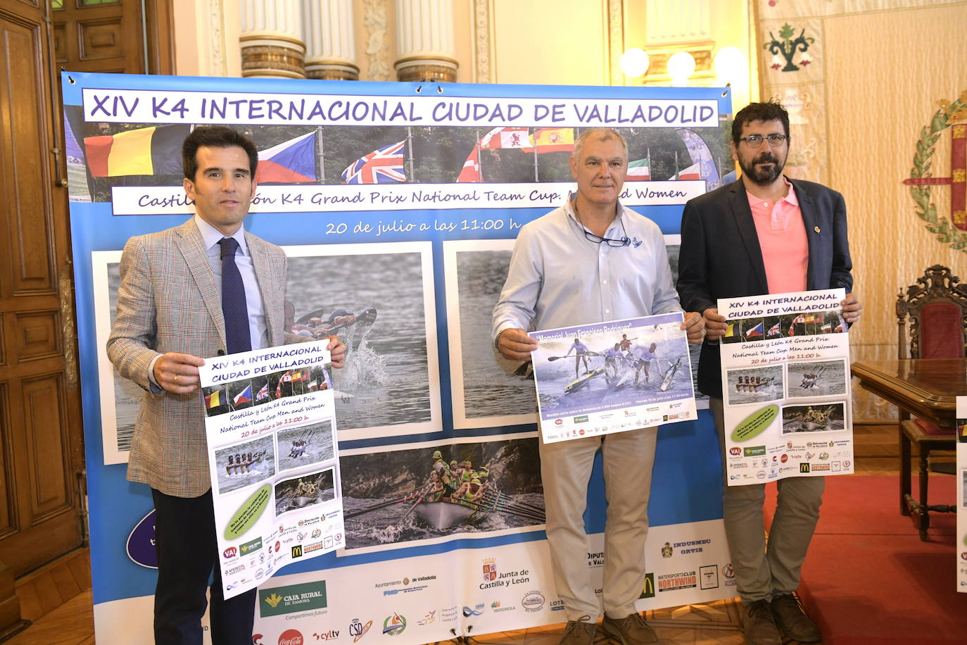El K-4 internacional Ciudad de Valladolid vuelve a las aguas del Pisuerga