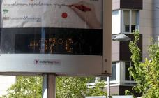 Calles vacías en Valladolid por las altas temperaturas