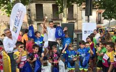 Una victoria de Salma Domínguez y dos podios más, balance de la Escuela de Ciclismo Salmantina en El Espinar