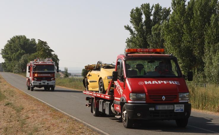 Mueren cuatro jóvenes en un accidente en Galisancho