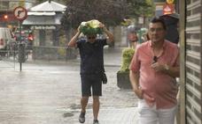 Las tormentas sorprenden a Valladolid con algunos episodios de granizo