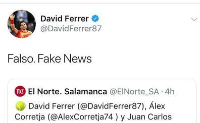 El Ayuntamiento de Salamanca anuncia unas clases de tenis con David Ferrer en el programa de Ferias y el extenista lo niega