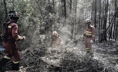 El fuego en la localidad abulense de Poyales del Hoyo se reproduce y obliga a cortar la CL-501