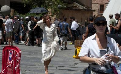 Irene Escolar rueda en Segovia 'Dime quién soy', adaptación del 'best seller' de Julia Navarro