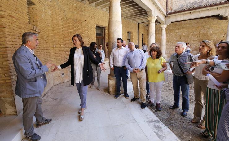 Visita institucional al castillo de Monzón