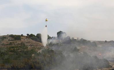 Declarado un incendio de grandes dimensiones en el Monte el Viejo de Palencia