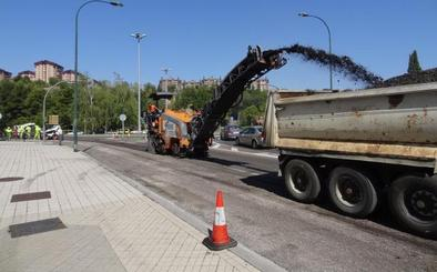 La avenida de Salamanca estrenará un pavimento contra las salpicaduras