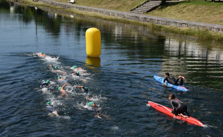 Travesia a nado en Velilla del río Carrión