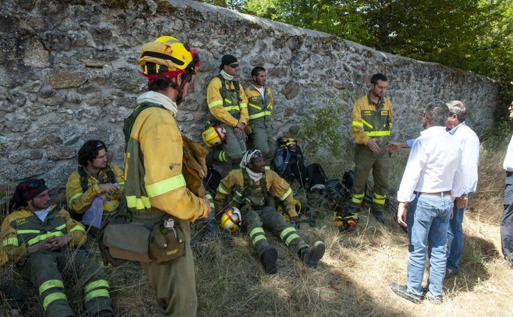 Incendio en el Parque de Guadarrama, segundo día