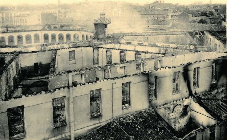 Estampas del Valladolid antiguo (XII): el desbastador incendio de la Academia de Caballería