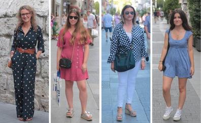 Los mejores looks con lunares del 'street style' en Valladolid